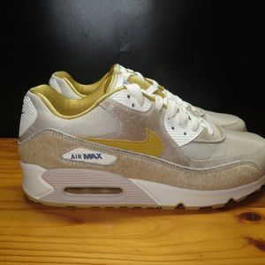 Nike Air Max 90 Pony Horse Hair String Wheat Gold